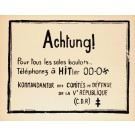"Original Vintage French Student Revolution Poster ""Achtung""  1968"