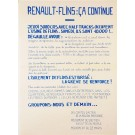 "French Student Revolution Poster """"Renault – Flins"""