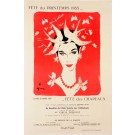Original Vintage French Fashion Poster by Gruau Fete de Printemps 1955