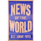 "Newspaper Advertising ""News of the World BEST Sunday Paper"""