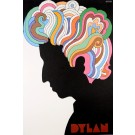 Vintage Poster made by Milton Glaser for Bob Dylan - later printing