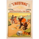 "Original Vintage French Poster ""LAUSTRAL"" Motorcycels by W. Thor ca. 1900"