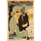 Original Vintage French Poster LE MOULIN DE LA GALETTE at Twelfth Night ca. 1900