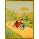 "Original Vintage Children Story Poster ""Le Postillon"" Late 1800s"
