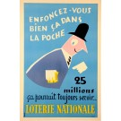 Original Loterie Nationale Poster  - 25 Millions by Grove 1939