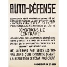 "Original Vintage French Student Revolution ""AUTO – DEFENSE"" 1968"