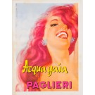 "Original Vintage Italian Poster for Brillantina ""Paglieri Acqua Gaia"" by Moltrasio 1930's"