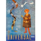 "Original Vintage Italian Advertising Poster for ""Universal Ginevra"" Watches by Foto E. Marcatali 1950's"