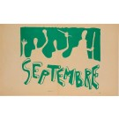 "French Student Revolution Poster ""SEPTEMBER"""
