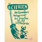 "Original Vintage French Student Revolution ""RTF – La Police""  Atelier Populaire"