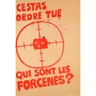 """Vintage French Poster """"Cestat Ordre Tue"""""""