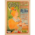 "Original Vintage Dutch Alcohol Poster ""CATZ-ELIXER""  By F.dXhardez ca. 1900"