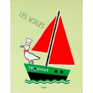 "Original Vintage French Poster ""Les Voiles Trouville"" by Savignac"