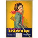 "Cardboard Advertisement for ""Esplosivi Stacchini"""