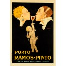 "Vintage Port Wine Advertising Poster ""PORTO RAMOS PINTO"""