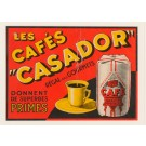 Original Vintage French Travel Poster Cafes CASADOR