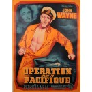 "Original French Movie Poster ""Operation dans le Pacifique"" John Wayne 1951"