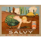 "Original Vintage French Milk Advertising Poster ""Salvy"" ca. 1920"