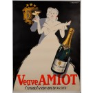 "Original Vintage French Alcohol Advertising Poster ""Veuve Amiot"" by Falcucci"