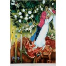 """Original Serigraph by Chagall After the Painting """"Three Candels"""""""