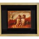 """Original Israeli Art Oil on Wood """"FOREVER"""" 2008 by Kim Tkatch"""