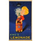 "Original Beverage Advertising Poster "" King's Fizzy Lemonade"" John Onwy ca. 1960"
