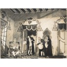 "Original Vintage French Photograph on Cardboard for ""Esther de Carpentras"" Opera ca. 1938"