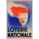 """Original Vintage Loterie Nationale Art Déco Poster """"Tentez Votre Chance"""""""