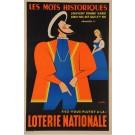 """Original Vintage Loterie Nationale Poster """"Les Mots Historiques"""" by GAD 1961"""