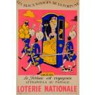 """Original Vintage Loterie Nationale Poster """"sous LOUIS XVI"""" by Lucien Boucher 1959"""