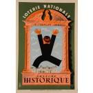 """Original Vintage Loterie Nationale Poster """"Tranche HISTORIQUE"""" by D. Lesacq 1939"""