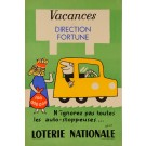"Original Vintage Loterie Nationale Poster ""Vacances Direction Fortune""   by Grove"