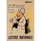 """Original Vintage Loterie Nationale Poster """"Logique"""""""