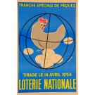 Original Vintage French Loterie Nationale Poster by Fix-Masseau 1938