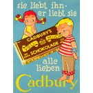 "Original Vintage Chocolate German Poster ""Cadbury's schokolade"" by Sim"