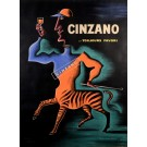 Original Vintage Alcohol Advertising Poster Cinzano by Carlu