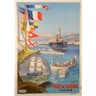 "French Tourism Travel Poster  ""Toulon"""