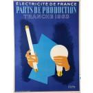Advertising Poster Électricité de France by Colin