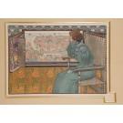 """Original Lithograph """"SOLVEIG"""" by G. M. Stevens for L'Estampe Moderne 1897"""