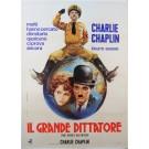 Original Charlie Chaplin Italian Movie Poster Il Grande Dittatore