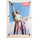 Original Vintage American Poster Advertising Levi's Jeans 1970's