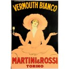 Original Italian Poster Martini Vermouth Bianco by M. Dudovitch