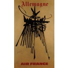 "Original French Poster ""Air France Allemagne"" by MATHIEU GEORGES 1960's"