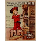 "Original Vintage French Poster ""Le Souverain"" Porto Wine by PAUL PELGE ca. 1900"