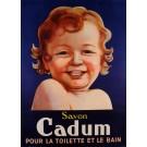 """Original Vintage French Poster """"Savon Cadum"""" by Le Feuve 1912"""