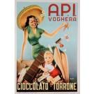 """Original Vintage Italian Poster """"Cioccolato-Torrone"""" by Di Lullo ca. 1950"""