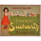 "Original Vintage Swiss Poster Advertising ""Chocolat Suchard"""