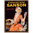 "Original Vintage French Poster for ""Chocolate Sanson"" 1930's"