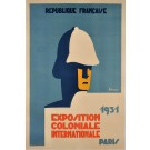 Original French Art Deco Advertising Poster for the Exposition of Colonial