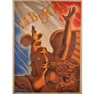 "Original Vintage French Propoganda Poster ""Liberty"" by Phili 1944"